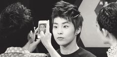 OMG !! this Gif xDDD Xiumin overdose cuteness reaction ♥♥ #minseok