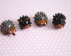Lampwork Hedgehog Beads - £4.20 https://www.etsy.com/uk/listing/275138006/hedgehog-beads?ref=shop_home_active_15