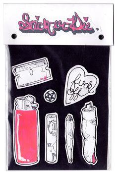 Stick-er-Die Hand Drawn Sticker Packs 4 by Lufaa on Etsy