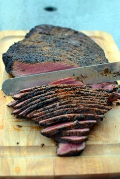 So I'm bringing Pastrami to the party. Here's a Smoked Pastrami Recipe if you're not sure what it is... Smoked Pastrami Recipe, Homemade Pastrami, Grilling Recipes, Meat Recipes, Venison Recipes, Party Recipes, Carne Defumada, Smoking Recipes, Smoked Chicken