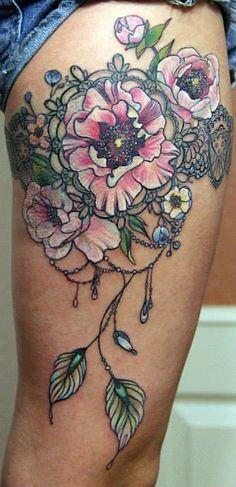 tatuagem lirios neo tradicional - Pesquisa Google
