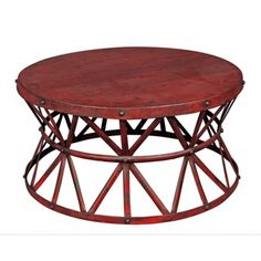 Shop for Wanderloot Truss Red Distressed Industrial Metal Coffee Table (India). Get free delivery at Overstock.com - Your Online Furniture Destination! Get 5% in rewards with Club O!