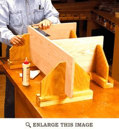 This is an awesome idea! Adjustable Assembly Supports Woodworking Plan