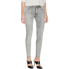 7 for All Mankind Mid-Rise Ankle Skinny Jean ($109) ❤ liked on Polyvore featuring jeans, grey, high waisted jeans, grey jeans, 7 for all mankind skinny jeans, gray jeans and highwaist jeans
