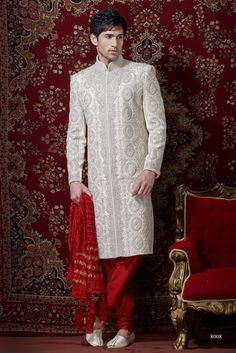 Sherwani For Men : Sherwani Designs, Designer, Groom & Wedding Sherwanis. We are Jugniji.com selling Indian wedding sherwanis online and on this page you can buy @ Shop online at http://jugniji.com/mens-collection/classic-sherwani-collection/classic-sherwani-2088.html
