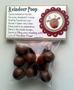 Santa's Reindeer Noses | Don't like poop? Try reindeer noses with eight chocolate malted ...