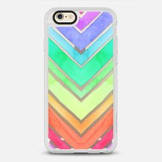 Rainbow Watercolor Chevron - New Standard Case in Clear and Clear by @micklyn | @casetify