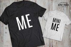 Me mini me father son matching shirts, Me mini me father son matching T-shirts, 100% cotton Tee, UNISEX