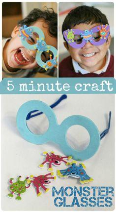4a1bd95589 5 Minute Kids Crafts  Monster Glasses