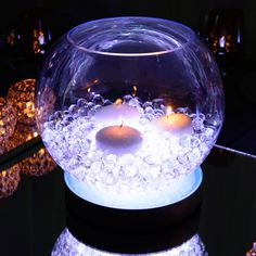 #leddecor #ledlighting #ledlights #tabledecorideas #tabledecor #weddingdecor #tablelightideas Led Centerpieces, Floral Arrangements, Snow Globes, Glow, Vase, Projects, Log Projects, Blue Prints, Flower Arrangement