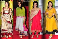 Bollywood celebrities anarkali suits. for more collection visit http://panachehautecouture.co.in/