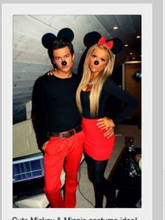 Mickey and Minnie Mouse Halloween costume for couples! I like it for my boyfriend I. :*