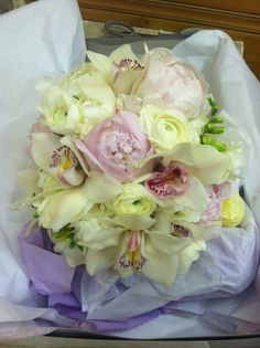 Nice mixed bouquet. Loved the colors