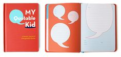 a book full of quips to write down all the funny things children say. Fabulous baby shower/mother's day gift!