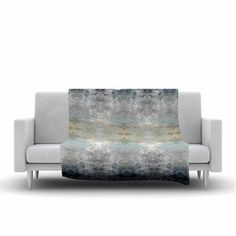FREE SHIPPING! Shop AllModern for KESS InHouse Heavenly Bird III by Pia Schneider Fleece Blanket - Great Deals on all  products with the best selection to choose from! #blanket #silver #blue #abstract #elegant #art  #decorideas  #livingroomdecor #giftidea