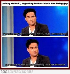 Just Johnny Galecki Being Awesome..