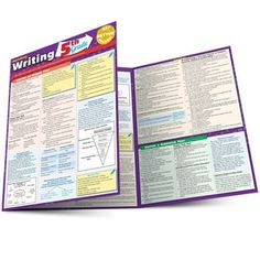 Writing: Common Core Grade Laminated Study Guide - BarCharts Publishing Inc makers of QuickStudy Thesis Writing, Writing Skills, Writing Tips, Education Grants, Text Types, Business Writing, School Hacks, 5th Grades, Creative Writing