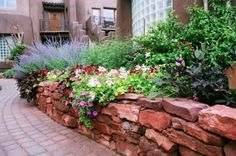 Lovely retaining wall and perennials