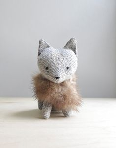 arctic fox / soft sculpture animal