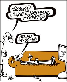 [Forges] Veganos y vagones Forges en El País 23/01/2018 H Comic, Humor Grafico, Comic Strips, Funny Things, Grande, Cartoons, Founding Fathers, Ironic Quotes, Words