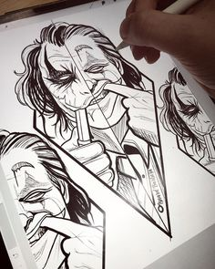 Tattoo Drawings For Men Sketches Joker Drawings, Dark Art Drawings, Cool Drawings, Pencil Drawings, Joker Sketch, Tattoo Sketches, Drawing Sketches, Tattoo Drawings, Drawing Ideas
