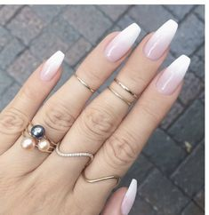 french fade with bare and white ombre acrylic nails coffin nails - page 17 . - hairstyles women - french fade with bare and white ombre acrylic nails coffin nails – page 17 … – - Coffin Nails Ombre, Gold Nails, Matte Nails, Fun Nails, Gold Glitter, Glitter Nails, Matte Gold, Gold Gold, White Acrylic Nails With Glitter