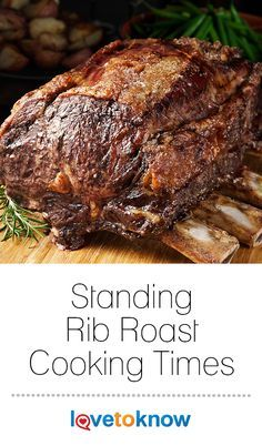 It can be confusing knowing how long to cook a rib roast as different cooking times (and temperatures) are recommended depending on the size of your roast. That's why having a standing rib roast cooking times table at your fingertips is a must when you ca Pork Rib Roast, Rib Roast Recipe, Prime Rib Recipe, Rib Recipes, Roast Recipes, Cooking Recipes, Cooking Cake, Smoker Recipes, Cooking Videos
