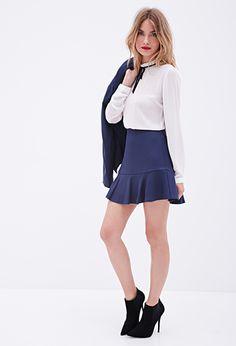 Textured Fluted Skirt   FOREVER 21 - 2000058617