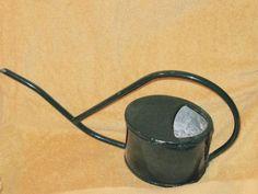 Watering Can, Tin, Retro Vintage, Enamel, Canning, Green, Vitreous Enamel, Pewter, Enamels