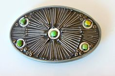 Mosaic belt buckle using nails and turquoise/ por DMacBeltBuckles, $70.00