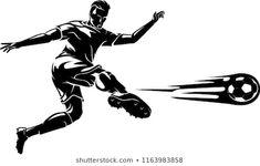 Soccer Scissor Kick Shadow Soccer Player Tattoos, Soccer Players, Shadow Illustration, Scissor Kicks, Love Music Tattoo, Soccer Silhouette, Soccer Drawing, Beautiful Nature Wallpaper, Pastel Art