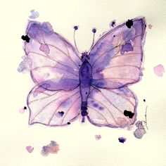Watercolor Butterfly Print  Original by RedbirdCottageArt on Etsy, $20.00