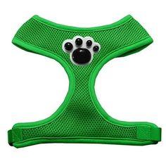 Black Paws Chipper Emerald Harness Small