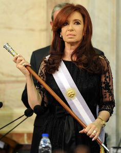 Cristina Fernandez de Kirchner - elected female president and first re-elected female president of Argentina A Level Spanish, Cristina Fernandez, President Of Argentina, Liberal Democrats, Amazing Women, Lady, Hair Styles, Respect, Frases