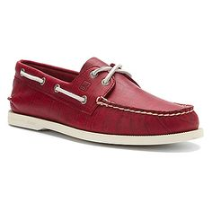 5229d8032 Sperry Top-Sider Authentic Original 2-Eye Croc Emboss Red