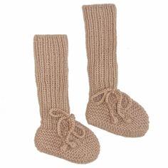 Long Socks Booties - Beige