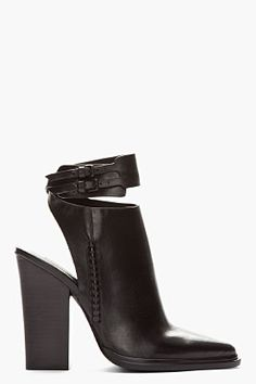 ALEXANDER WANG // BLACK CUT-OUT DASHA ANKLE BOOTS