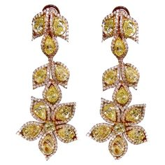 Important Fancy Yellow Diamond Earrings | 1stdibs.com