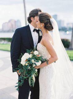 Beautiful strapless wedding dress