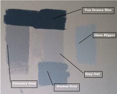 Benjamin Moore Providence Blue 1636 Blue Teal Gray Wall
