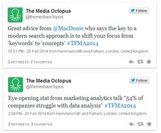 "Our tweets have been quoted on #Storify story ""Technology for Marketing & Advertising Expo: Live Coverage"" http://sfy.co/pP7U from TFM&A #TFMA2014 Follow us @The Media Octopus for more tweet updates from the talks!"