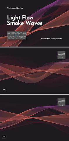 **Techno Futuristic Smooth Wavy Brushes** We created this amazing and very helpful brush set for your design businesses rooted in professional technology and vast desire to combine fun and work. Photoshop Brushes, Brush Set, Business Design, Techno, Design Inspiration, Waves, Smoke, Templates, Abstract