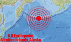 An earthquake struck in a remote area of Alaska's Aleutian Island chain and there were no reports of damage or injuries. 5.8 magnitude