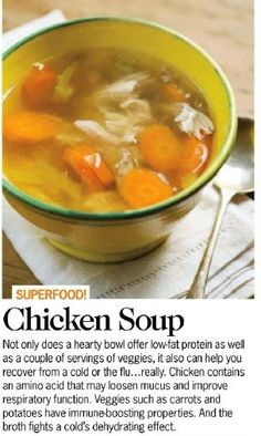 chicken soup - food that heals