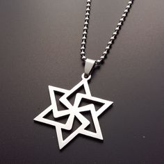 Hexagrams Stainless Steel Pendant With Chain Goth Lady Men Necklace, Pendant Necklace, Charms, Goth, Chokers, Pendants, Stainless Steel, Necklaces, Gothic