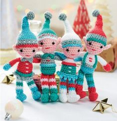 Family of Elves Free Crochet Pattern perfect for Christmas