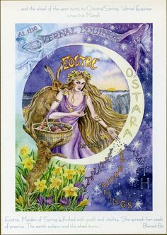 The Goddess and the Green Man | Festivals And Sabbats | Goddess Wheel Of The Year Ostara Spring Equinox