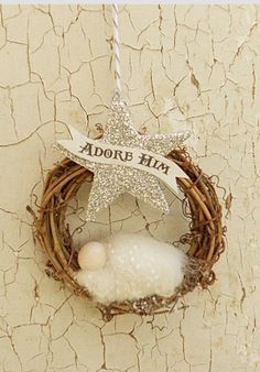 "Baby Jesus ""Adore Him"" ornament                                                                                                                                                     More                                                                                                                                                                                 More"