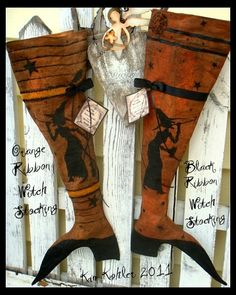 249  I absolutely adore these whimsical witches' boots.