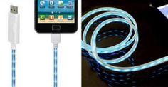 $11 LED Charging Cable for iPhone, iPad, & iPad Mini [8-pin or 30-pin]